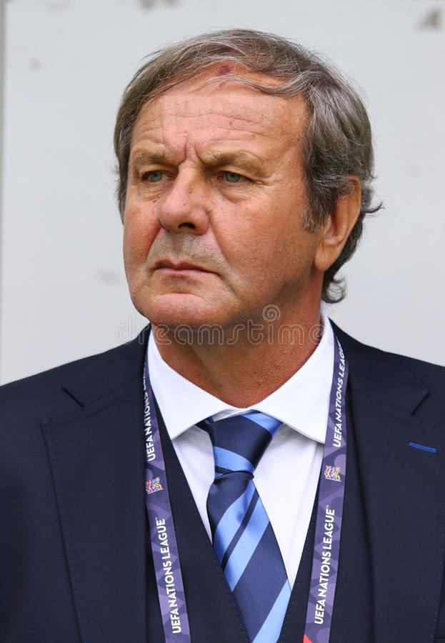 UEFA-Natiesliga: De Oekraïne - Slowakije royalty-vrije stock fotografie