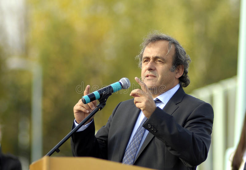 UEFA President Michel Platini royalty-vrije stock afbeelding
