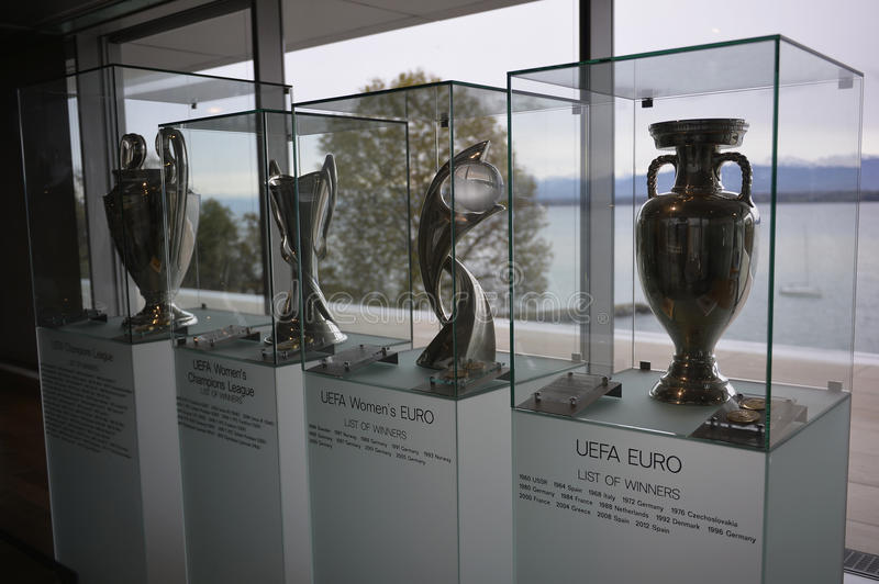 Download Uefa Trophy Room Editorial Stock Photo Image Of Center