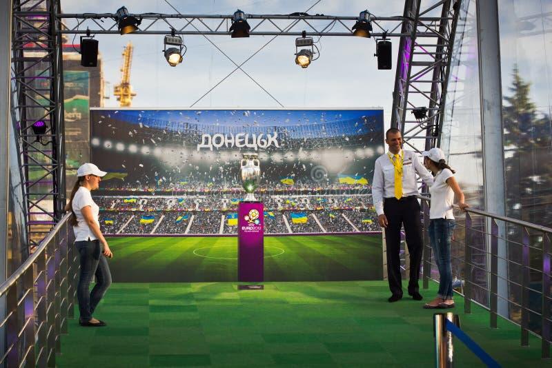 Download UEFA Trophy Tour In Donetsk Editorial Stock Image - Image: 24880769