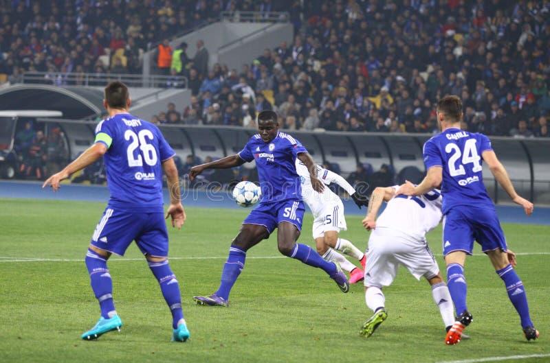 UEFA verdedigt de Dynamo Kyiv van het Ligaspel FC versus Chelsea royalty-vrije stock foto's