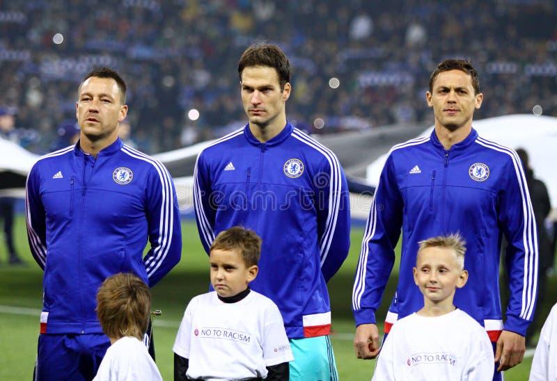 UEFA verdedigt de Dynamo Kyiv van het Ligaspel FC versus Chelsea royalty-vrije stock afbeeldingen