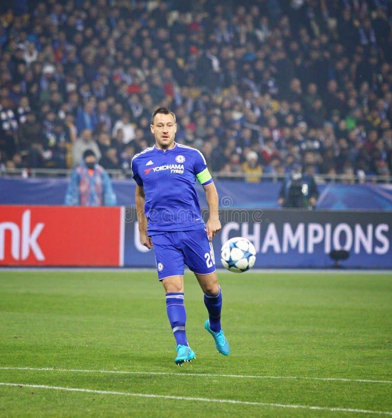 UEFA verdedigt de Dynamo Kyiv van het Ligaspel FC versus Chelsea royalty-vrije stock foto