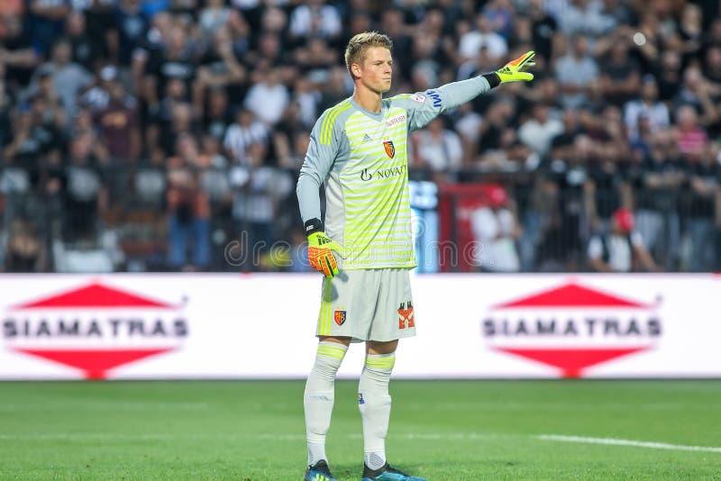 UEFA verdedigt Liga Tweede die, 1st gelijke betwe rond kwalificeren royalty-vrije stock foto's