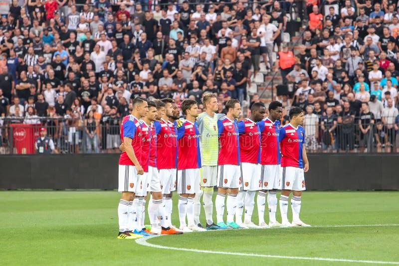 UEFA verdedigt Liga Tweede die, 1st gelijke betwe rond kwalificeren royalty-vrije stock afbeelding