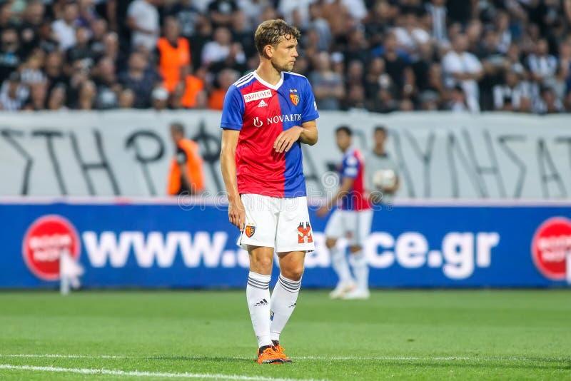 UEFA verdedigt Liga Tweede die, 1st gelijke betwe rond kwalificeren stock afbeeldingen