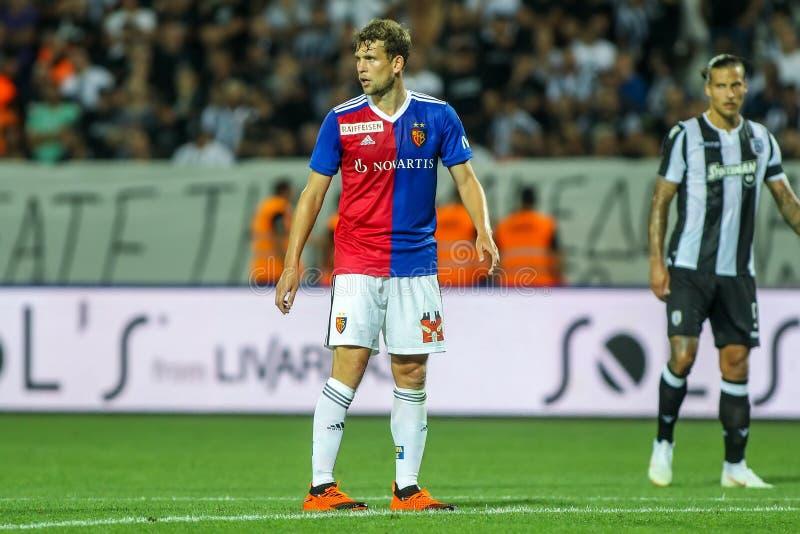 UEFA verdedigt Liga Tweede die, 1st gelijke betwe rond kwalificeren royalty-vrije stock foto