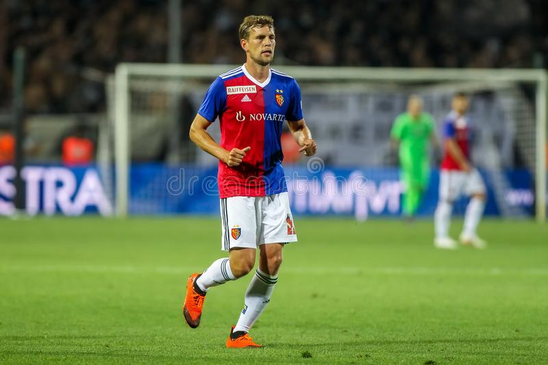 UEFA verdedigt Liga Tweede die, 1st gelijke betwe rond kwalificeren stock foto's