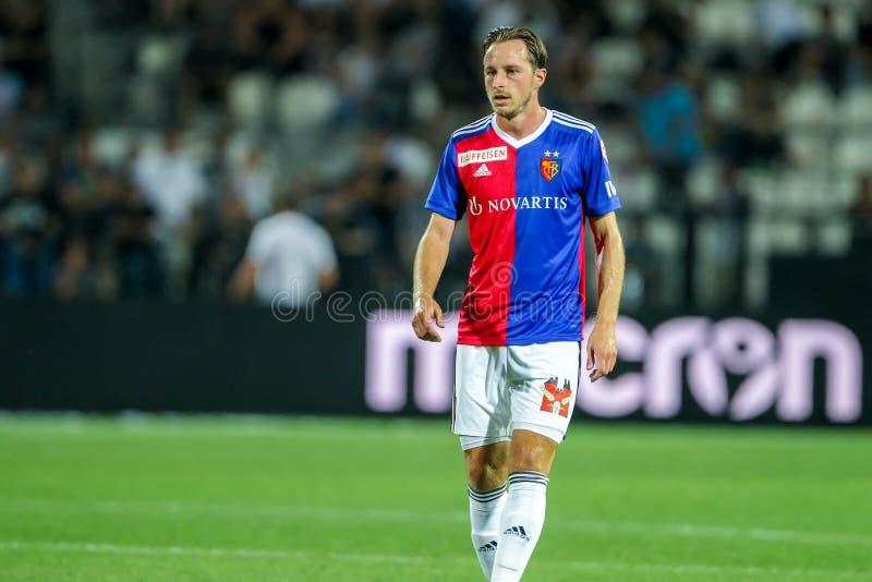 UEFA verdedigt Liga Tweede die, 1st gelijke betwe rond kwalificeren royalty-vrije stock fotografie