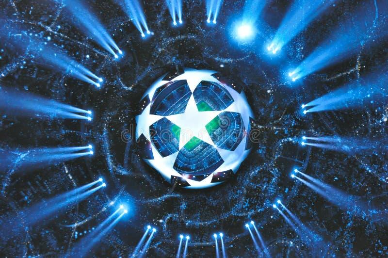 UEFA verdedigt Ligabanner royalty-vrije stock afbeelding