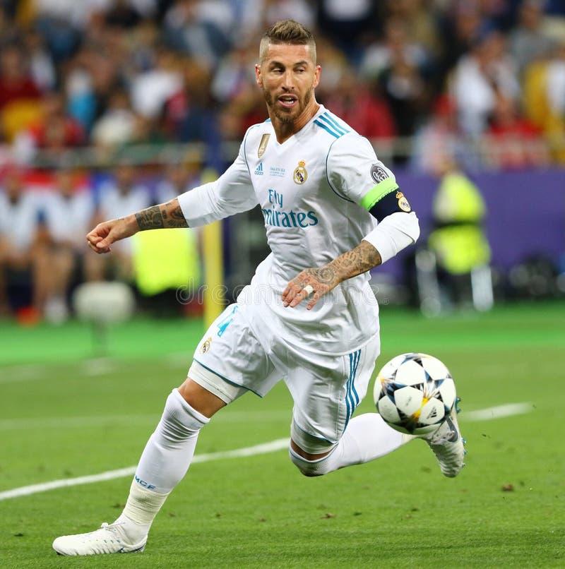 UEFA verdedigt Ligadef. 2018 Real Madrid v Liverpool royalty-vrije stock afbeelding