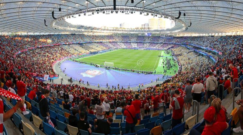 UEFA verdedigt Ligadef. 2018 Real Madrid v Liverpool stock afbeeldingen