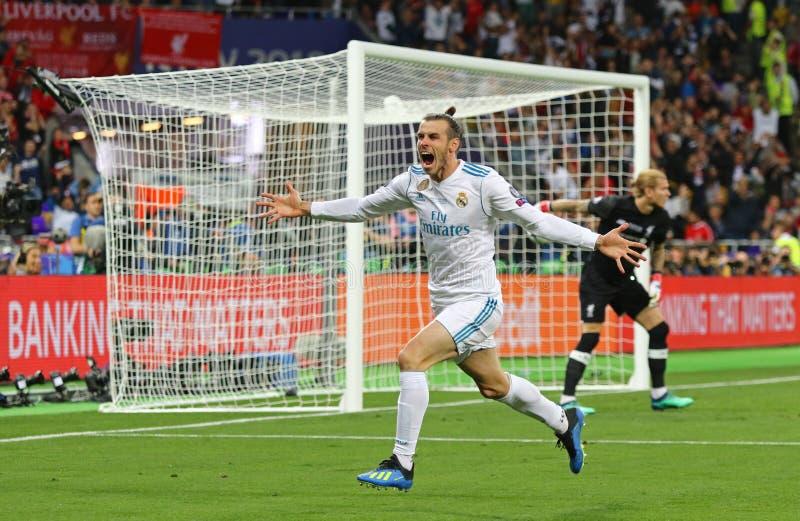 UEFA verdedigt Ligadef. 2018 Real Madrid v Liverpool royalty-vrije stock afbeeldingen