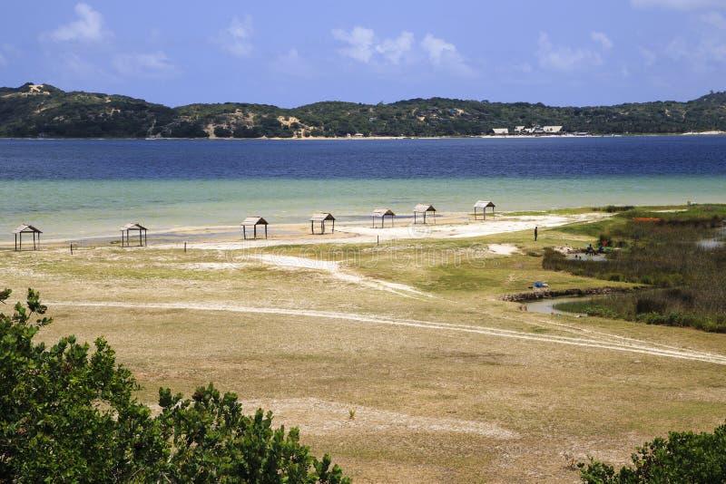 Uembje laguna Bilene, Mozambik - obraz stock