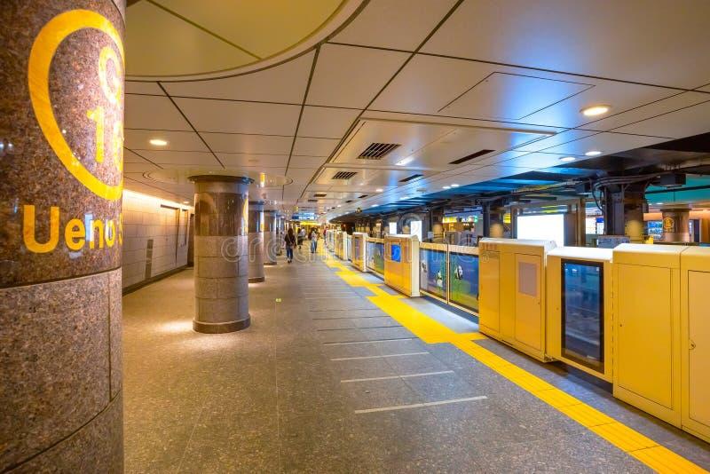 Ueno station i Tokyo, Japan fotografering för bildbyråer