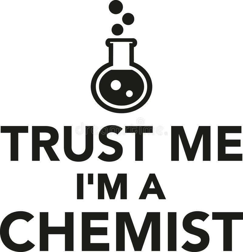 Ufa ja I ` m chemik ilustracja wektor