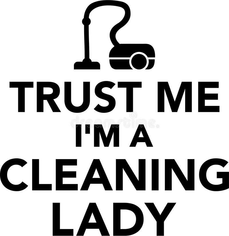 Ufa ja I ` m Cleaning dama royalty ilustracja