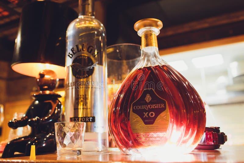 Ufa, Russia, 12 June, 2019: Courvoisier VSOP Cognac.Courvoisier is a brand of cognac owned by Beam Suntory. The stock image