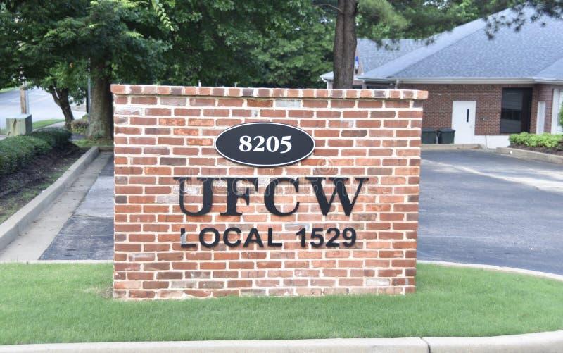 UFCW-lokal 1529, Cordova, TN fotografering för bildbyråer