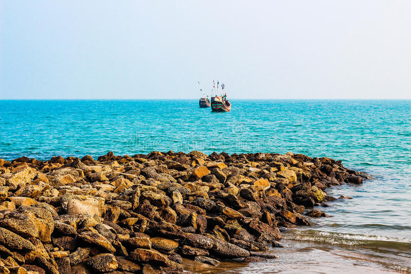 Ufer des Meeres stockfoto