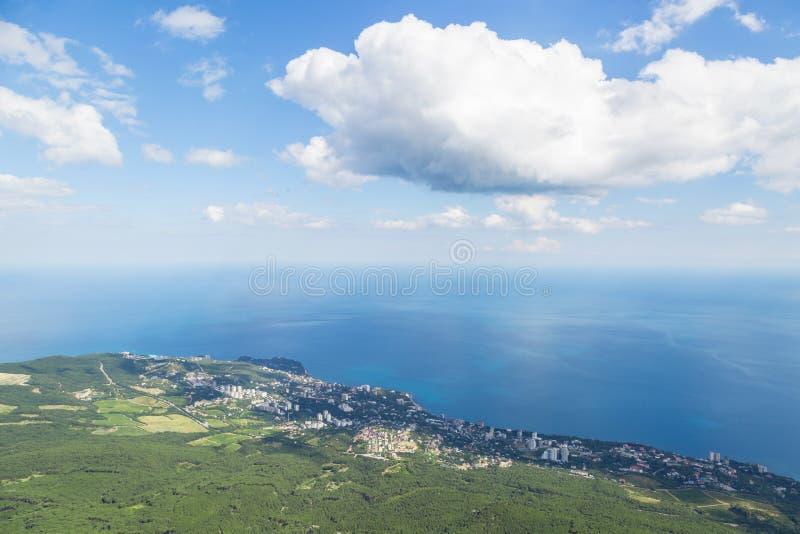 Ufer, Meer und Himmel von Krim lizenzfreies stockfoto