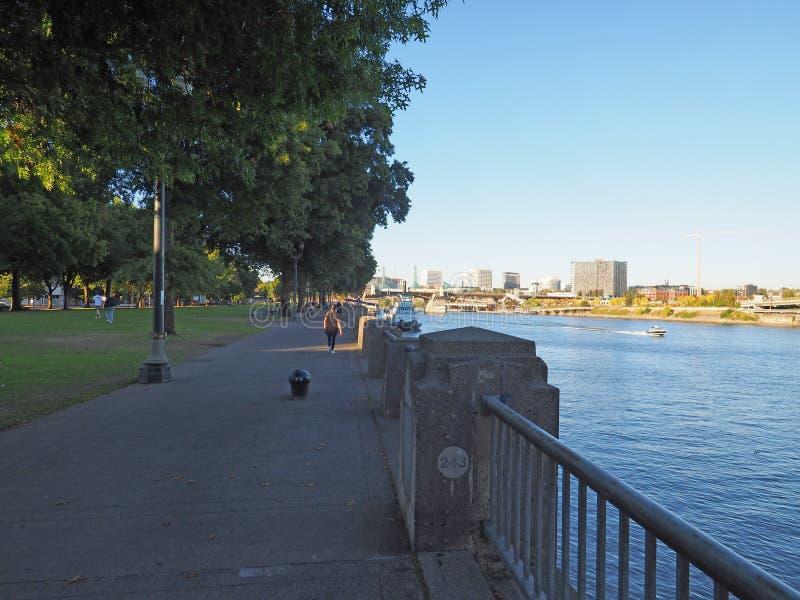 Ufergegend-Park in Portland, Oregon stockbild