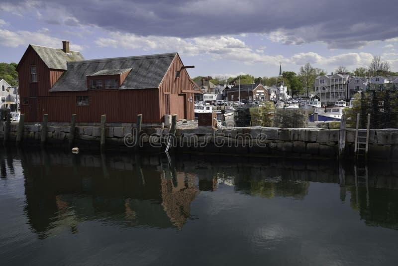 Ufergegend Rockport Massachusetts stockbilder