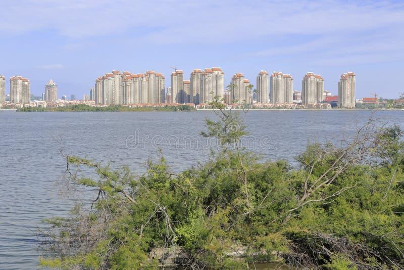 Ufergegend shuijinghujun Wohnbereich, luftgetrockneter Ziegelstein rgb stockfotografie