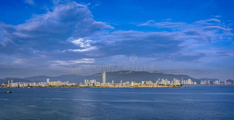 Ufergegend von George Town stockfoto