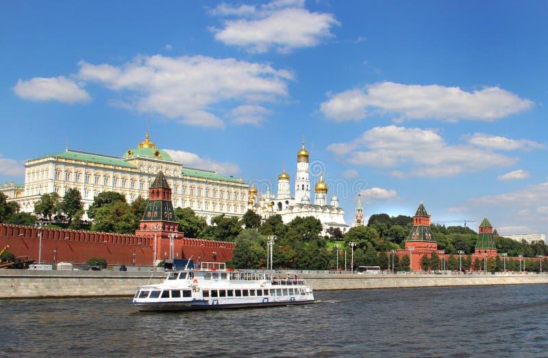 Ufergegend von Moskau-Stadt stockbilder