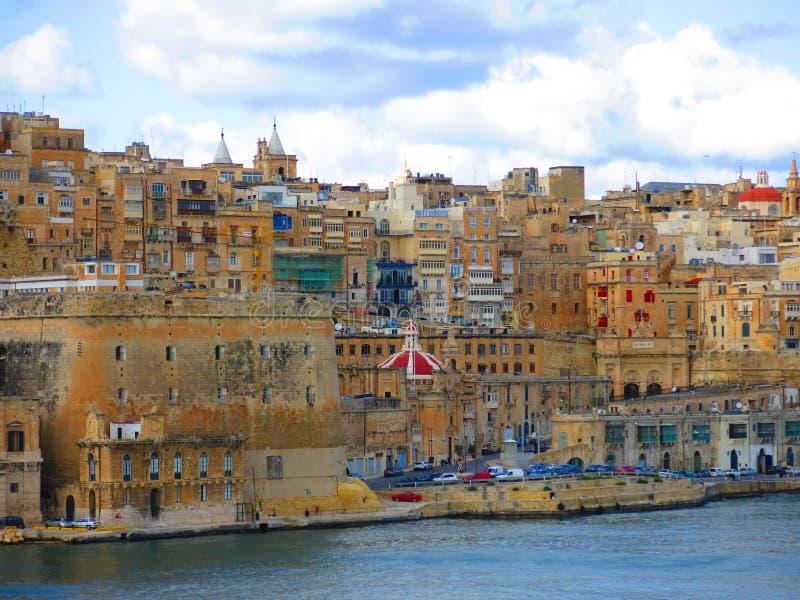 Ufergegend von Valletta, Malta lizenzfreie stockfotos