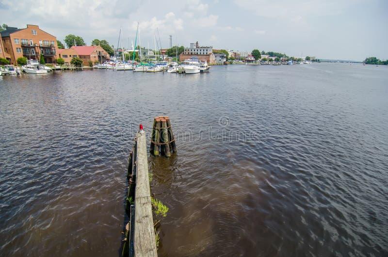 Ufergegendszenen in Washington Nord-Carolina stockfoto