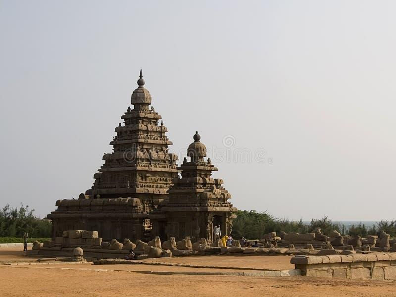 Ufertempel von Mahabalipuram, Indien stockbild