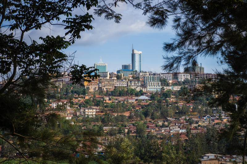 Uffici nella città di Kigali, Ruanda fotografia stock libera da diritti
