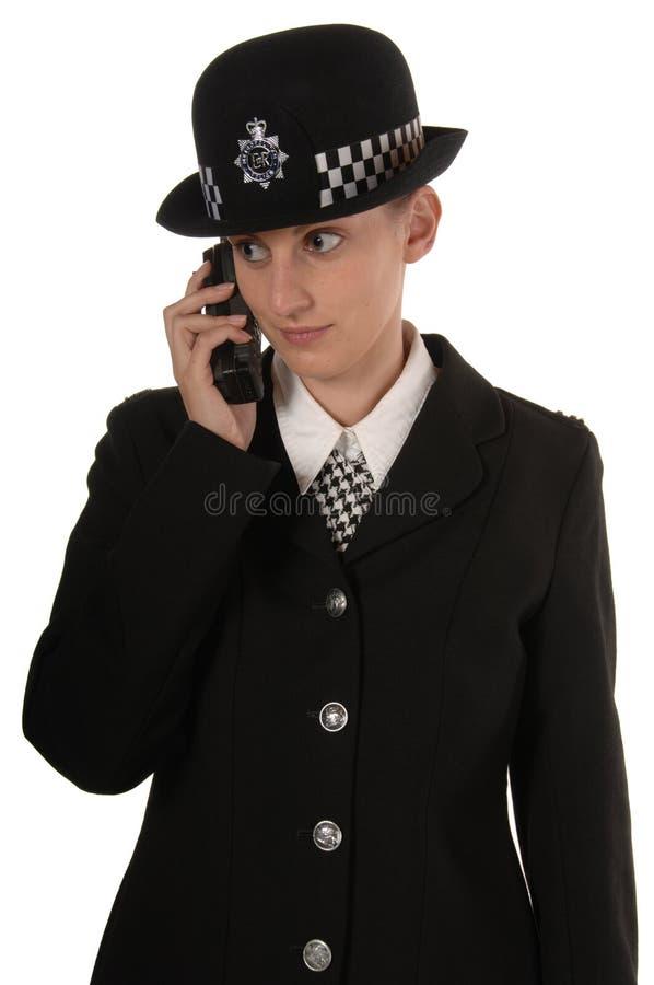 Ufficiale di polizia BRITANNICO femminile immagine stock