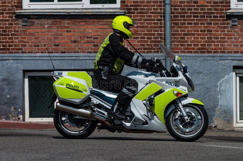 Ufficiale di polizia danese del motociclo fotografie stock libere da diritti