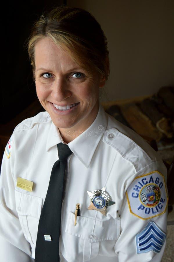 Ufficiale di polizia di Chicago fotografia stock libera da diritti