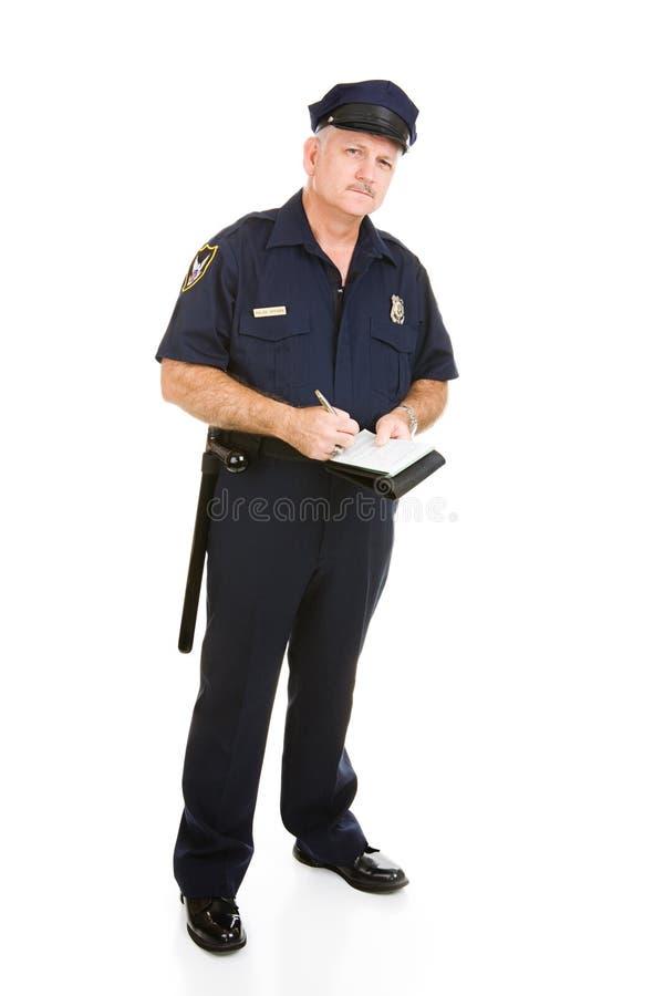 Ufficiale di polizia sul job fotografia stock libera da diritti