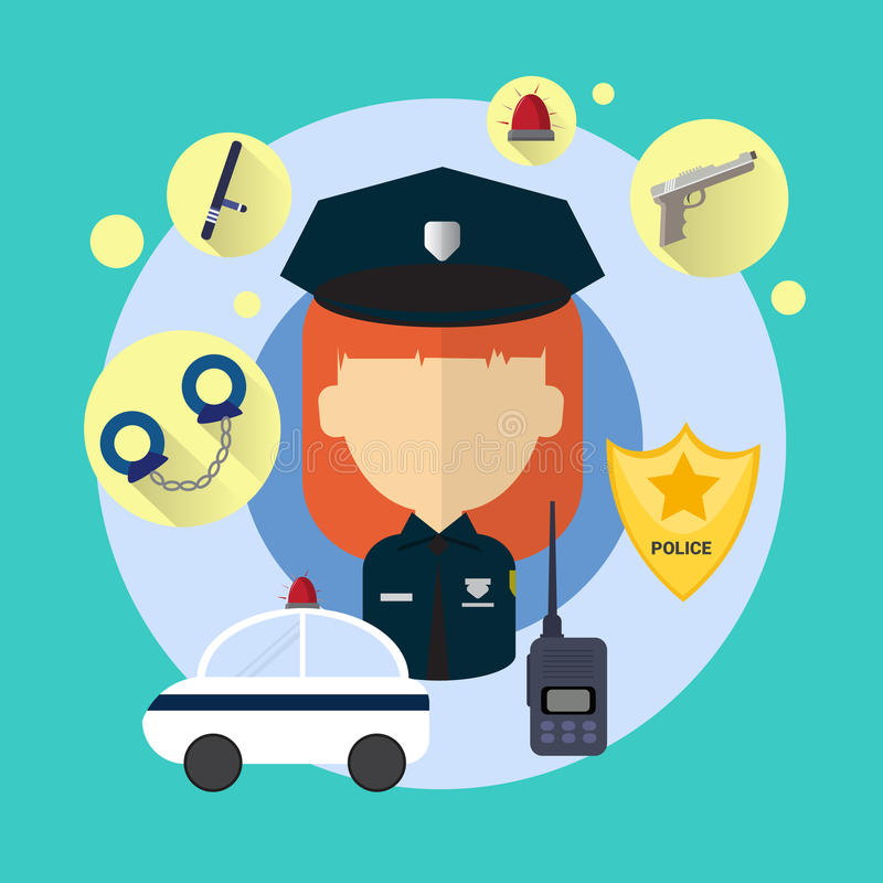 Ufficiale di polizia Woman Icon royalty illustrazione gratis