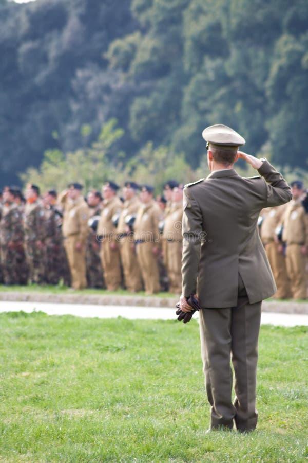 Ufficiale militare fotografia stock