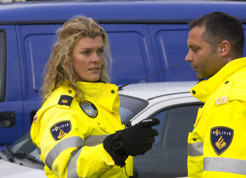 Ufficiali di polizia fotografie stock