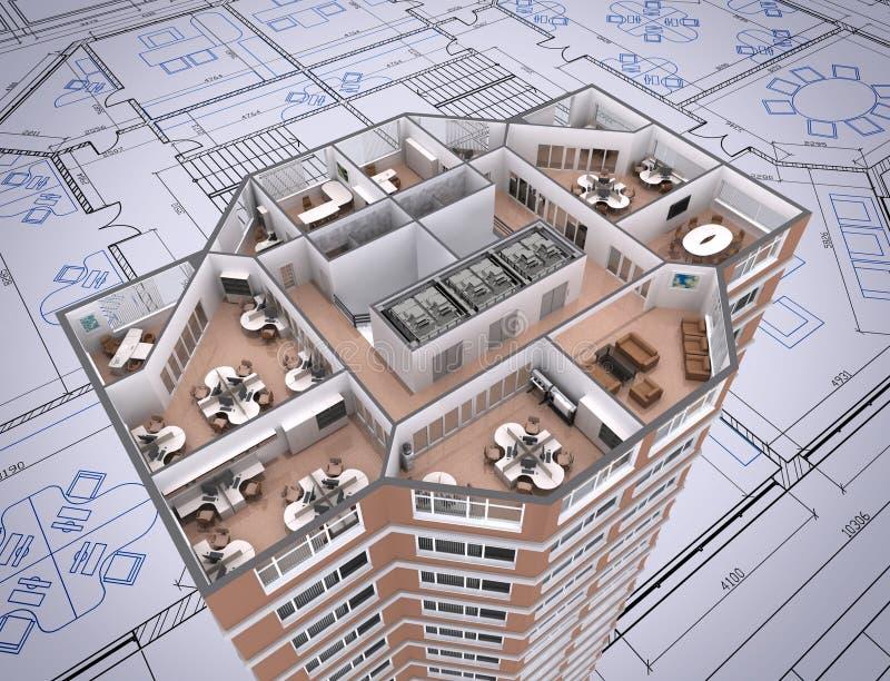 Ufficio. illustrazione di stock