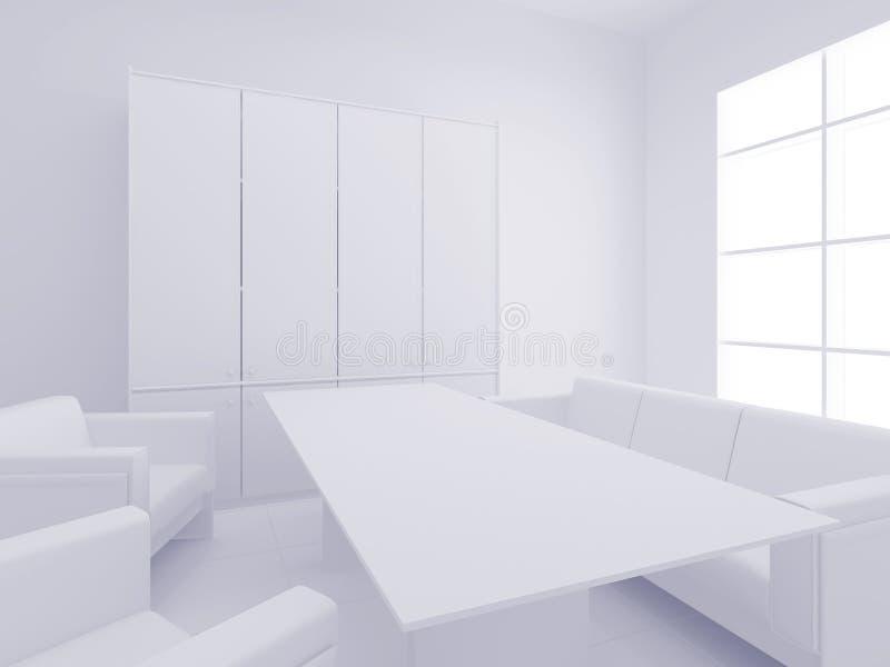 Ufficio bianco illustrazione di stock