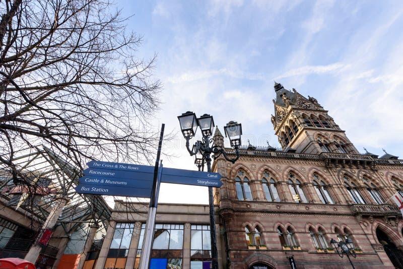 Ufficio Chester Regno Unito di informazione turistica fotografie stock