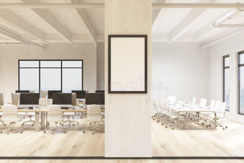 Ufficio con la cornice in bianco illustrazione vettoriale