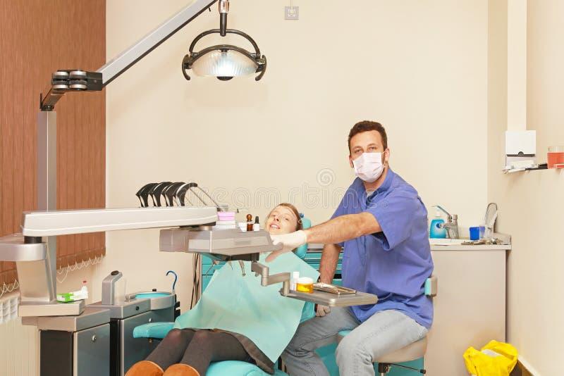 Ufficio del dentista immagini stock libere da diritti