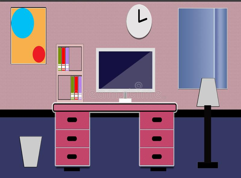 Ufficio del proprietario della proprietà illustrazione vettoriale