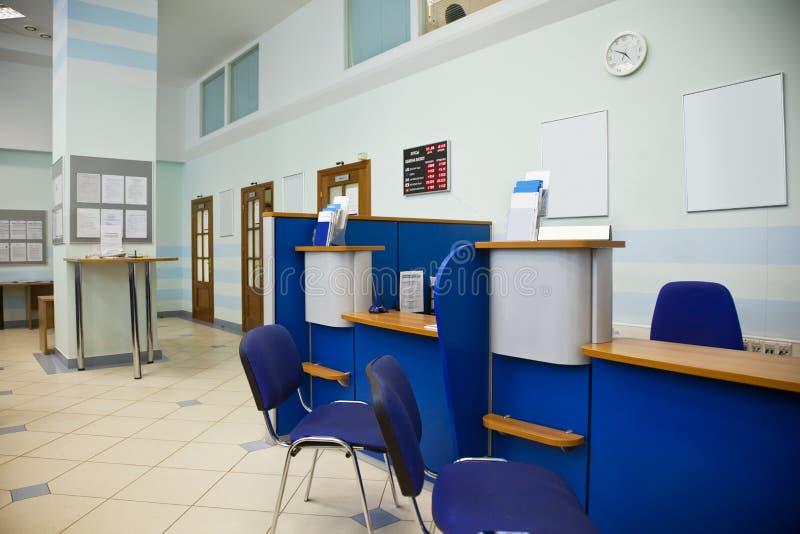 Ufficio della banca immagine stock