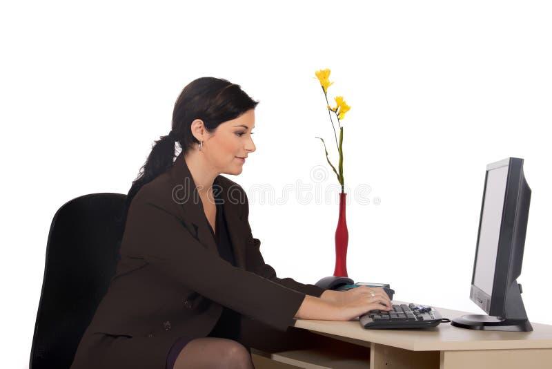 Ufficio della donna di affari fotografia stock libera da diritti