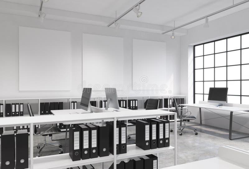 Ufficio dello spazio aperto illustrazione di stock